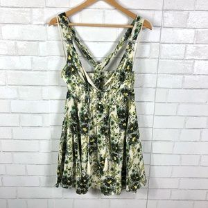 NEW Free People Floral Print Mini Dress